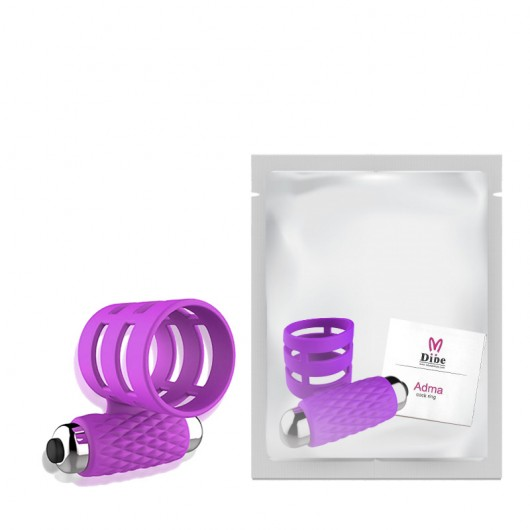 Anel Peniano Com Meia Capa e Cápsula Vibratória Adma - DIBE - DB025