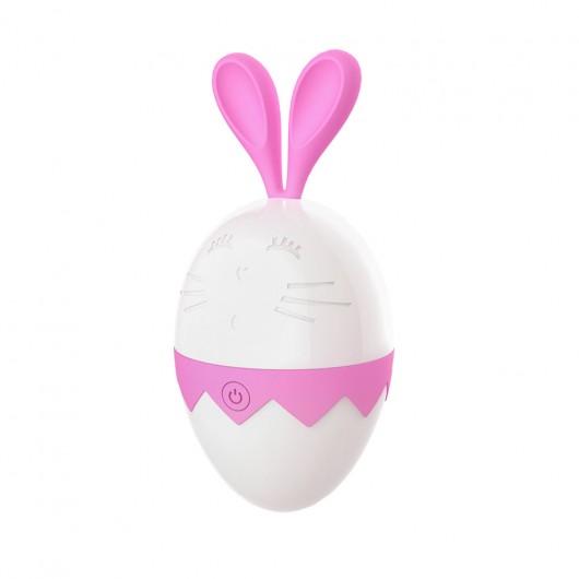 Estimulador clitoriano em formato coelho, ao abrir uma pequena boca com língua produz movimentos de estimulação vai e vem  - DB059