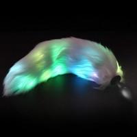 Plug Anal de Luxo com calda, feito em silicone - PL080