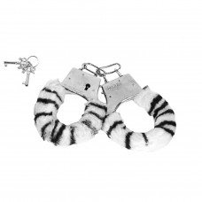 Algemas Reguláveis com Chaves e Pelúcia Zebra - VIPMIX - AL001Z