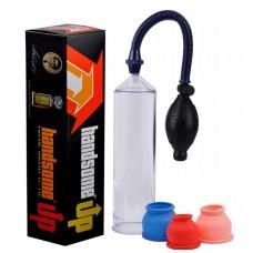 Bomba Peniana Manual com pera e controle de sucção - HANDSOME - BB002